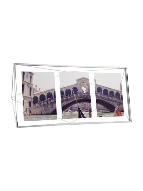 Portafoto multiplo argentato Prisma, Cornice: acciaio, cromato, Cromo, 13 x 18 cm