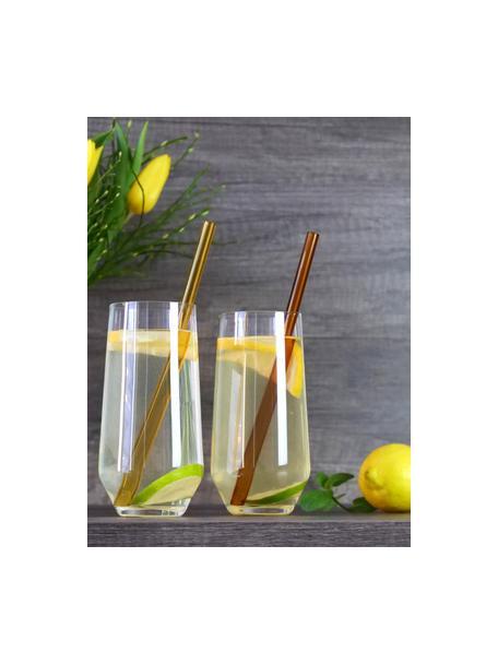 Bicchiere acqua in cristallo Revolution 6 pz, Cristallo, Trasparente, Ø 7 x Alt. 14 cm