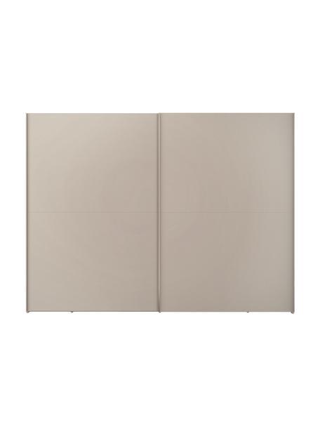 Kledingkast Oliver met schuifdeuren in beige, Frame: panelen op houtbasis, gel, Beige, 302 x 225 cm