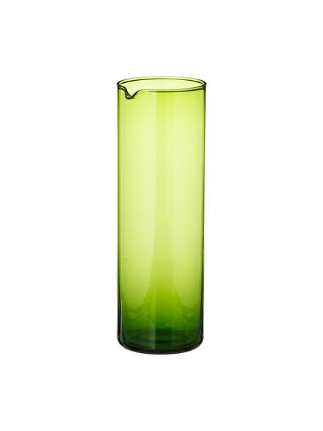 Karaf Bloom, Glas, Groen, Ø 8 x H 24 cm