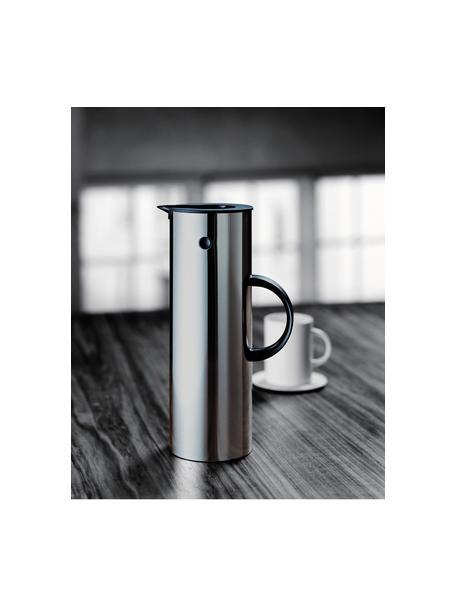 Thermosfles EM77, Fles: edelstaalkleurig. Handvat: zwart, 1 l