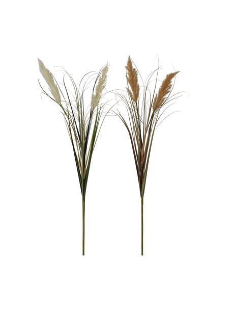 Komplet dekoracyjnej trawy pampasowej, 2 elem., Tworzywo sztuczne, Wielobarwny, S 25 x W 100 cm