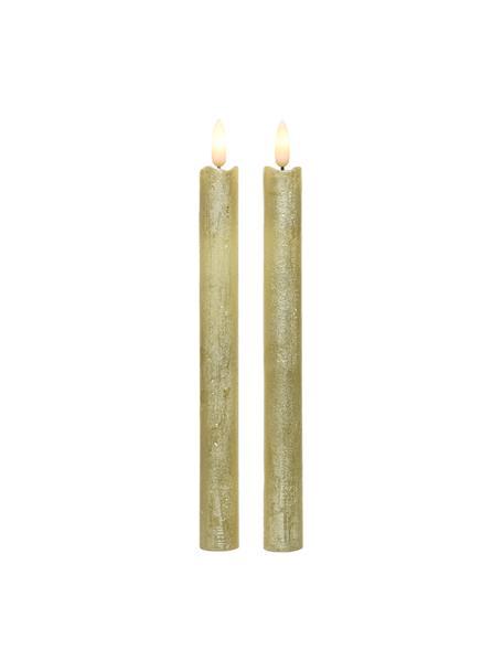 Velas LED Bonna, 2uds., Cera, Dorado, Ø 2 x Al 24 cm