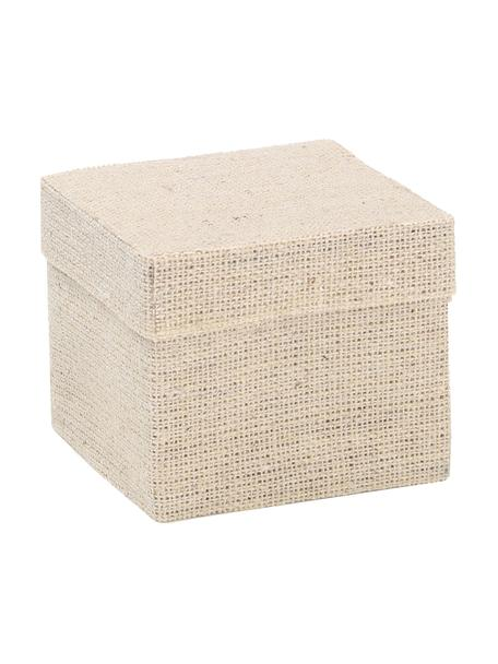 Cajas para regalo Square, 6uds., Algodón, Beige, An 5 x Al 5 cm