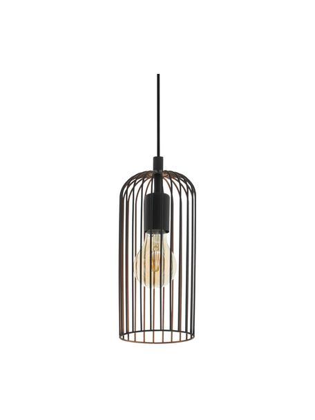 Lampa wisząca Roccamena, Czarny, Ø 13 x W 30 cm