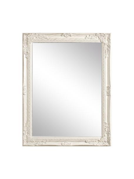 Espejo de pared de madera Miro, Espejo: cristal, Blanco, An 62 x Al 82 cm