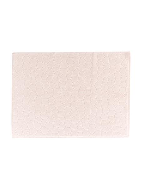 Alfombrilla de baño Stone, 100%algodón, Rosa pálido, An 50 x L 70 cm