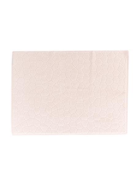 Tappeto bagno in cotone Stone, 100% cotone, Rosa chiaro, Larg. 50 x Lung. 70 cm