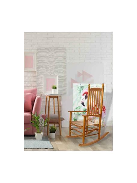 Fotel bujany z drewna naturalnego Pedro, Drewno topoli, Brązowy, S 87 x G 69 cm