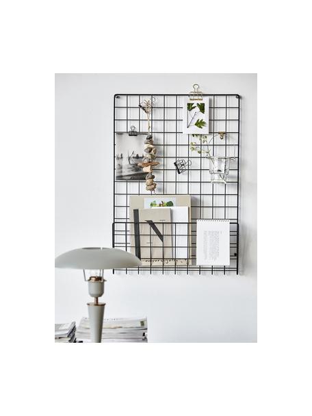 Grosse Gitter-Pinnwand Mesh in Schwarz, Stahl, lackiert, Schwarz, 51 x 72 cm