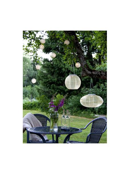 Solar hanglamp Festival, Lampenkap: polyester, Beige, Ø 25 x H 21 cm