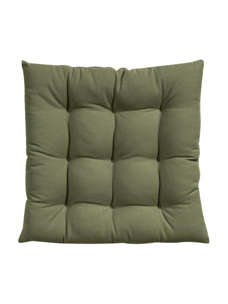 Cuscino seduta verde oliva Ava, Rivestimento: 100% cotone, Verde, Larg. 40 x Lung. 40 cm