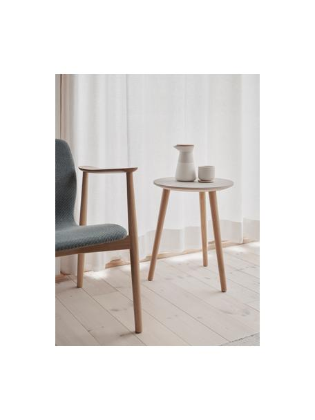 Tazza senza manico bianca con coperchio/sottotazza Theo, Bianco latteo, bambù, Ø 8 x Alt. 8 cm
