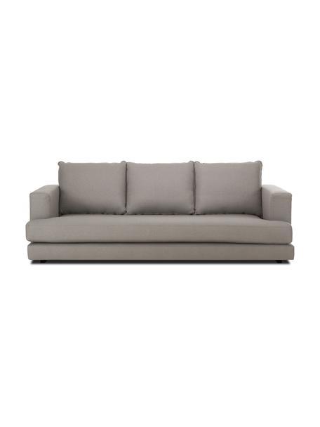 Sofa Tribeca (3-Sitzer) in Dunkelgrau, Bezug: Polyester Der hochwertige, Gestell: Massives Kiefernholz, Füße: Massives Buchenholz, lack, Webstoff Dunkelgrau, B 228 x T 104 cm