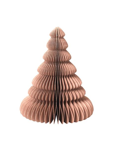 Plissé boompje Paper Pine in lichtbruin H 15 cm, Papier, Lichtbruin, Ø 13 x H 15 cm