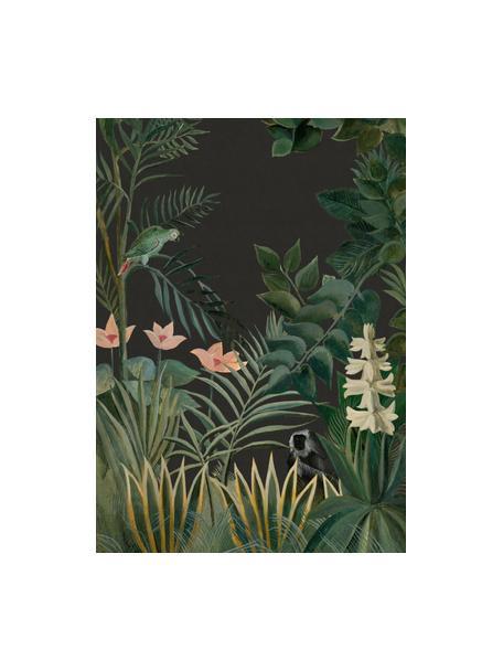 Papel pintado Into the blush, Tejido no tejido, Verde oscuro, rosa, verde claro, An 200 x Al 280 cm