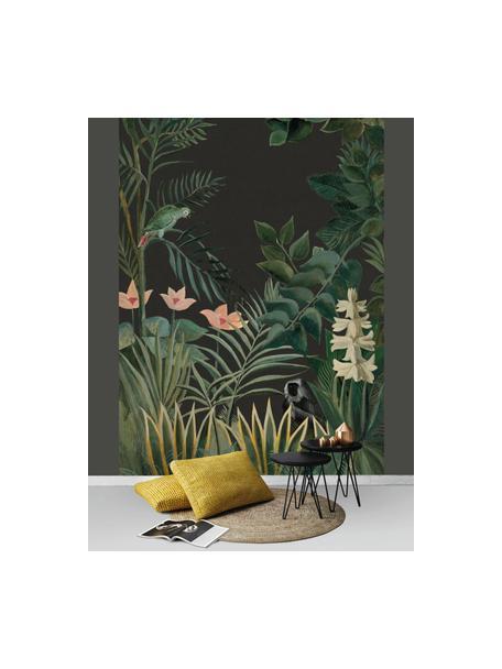 Carta da parati Into the blush, Tessuto non tessuto, Verde scuro, rosa, verde chiaro, Larg. 200 x Alt. 280 cm