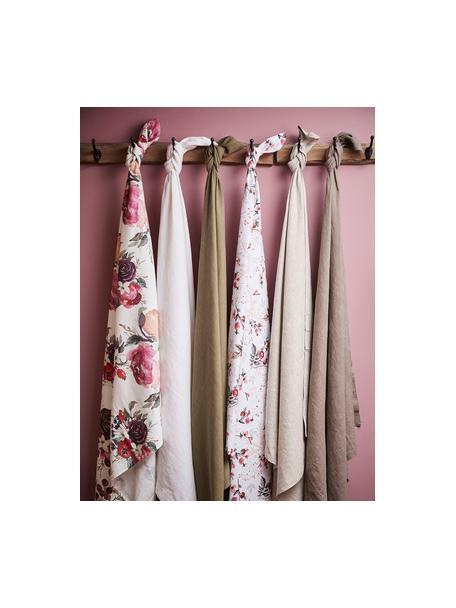 Paños de cocina de algodón Florisia, 2uds., Algodón, Rosa, blanco, An 50 x L 70 cm