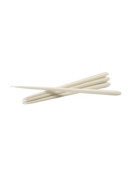 Dünne Stabkerzen Stoff Nagel, 6 Stück, Paraffinwachs, Gebrochenes Weiß, Ø 1 x H 29 cm