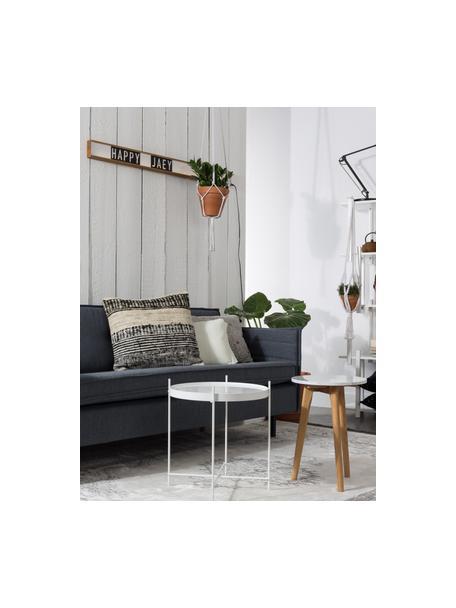 Tappeto vintage con frange Marvel, Retro: poliestere con rivestimen, Grigio scuro, grigio chiaro, beige chiaro, Larg. 175 x Lung. 240 cm (taglia M)