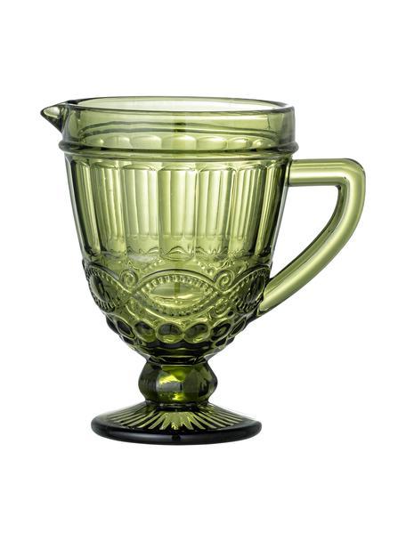 Decanter verde stile country Florie, 300 ml, Vetro, Verde, Larg. 20 x Alt. 20 cm