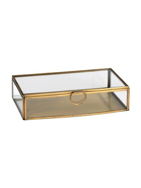 Scatola portaoggetti Janni, Ottone, vetro, Ottone, Larg. 22 x Prof. 13 cm