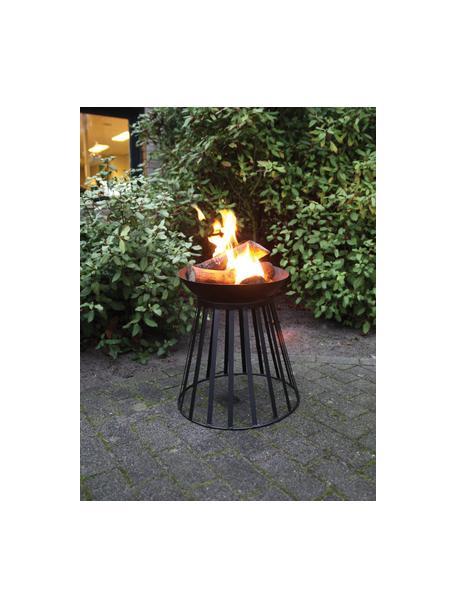 Feuerschale Move, Metall, beschichtet, Schwarz, Ø 47 x H 49 cm
