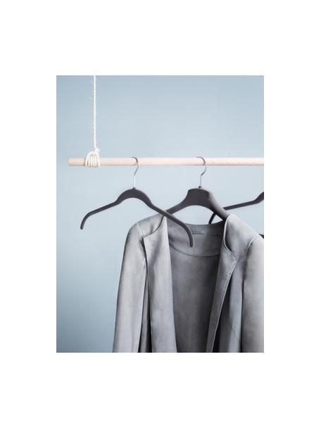 Gruccia Grey Velvet 12 pz, Rivestimento: floccatura in nylon, Grigio, Larg. 45 x Alt. 25 cm