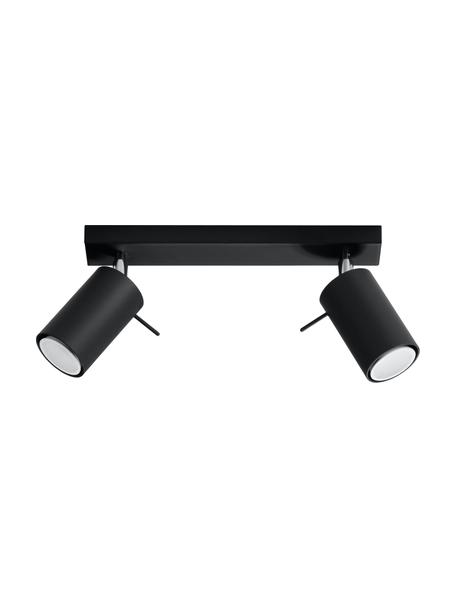 Riel Etna, Estructura: acero, Anclaje: acero pintado, Negro, An 30 x Al 15 cm