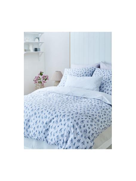 Poszewka na poduszkę z bawełny Yane, 2 szt., Niebieski, biały, S 40 x D 80 cm