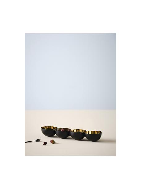 Ciotole da immersione oro/nero Lola, Alluminio rivestito, Dorato, nero, Larg. 40 x Alt. 5 cm