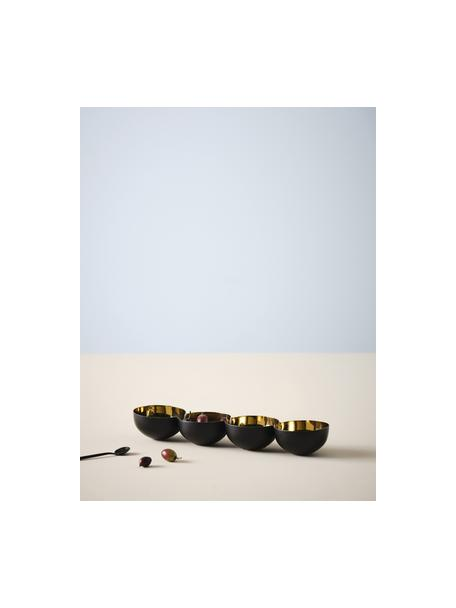 Dipschaal Lola goudkleur/zwart, Gecoat aluminium, Goudkleurig, zwart, 40 x 5 cm