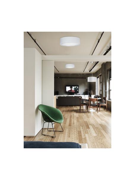 Handgemaakte plafondlamp Mika, Diffuser: kunststof, Wit, Ø 40 x H 10 cm