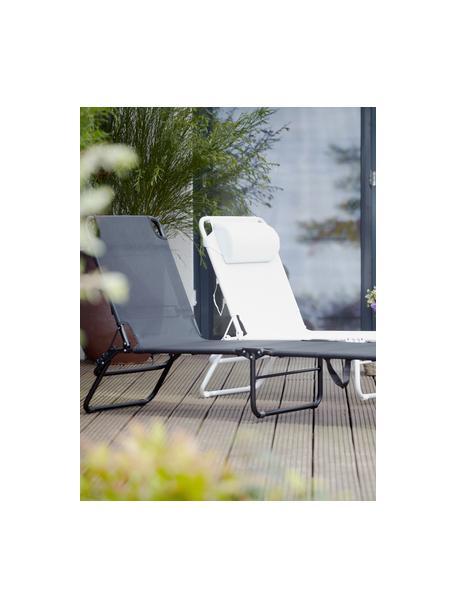 Ligstoel Fiam Amigo, Frame: aluminium, Bekleding: polyester, Zwart, transparant, 58 x 190 cm