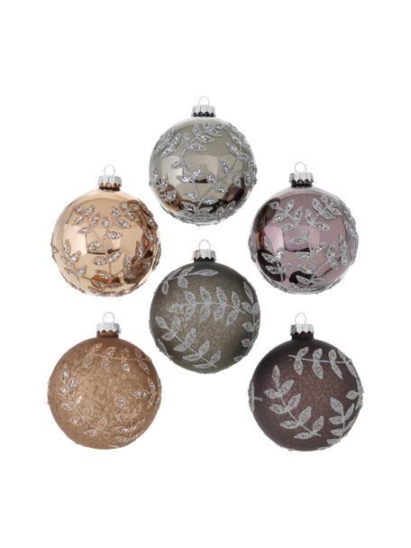 Weihnachtskugel-Set Amelita Ø 8 cm, 6-tlg., Mehrfarbig, Ø 8 x H 8 cm