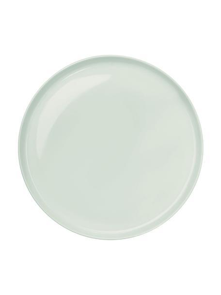 Platos llanos de porcelana Kolibri, 6uds., Porcelana, Verde menta, Ø 27 cm