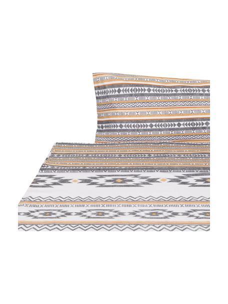 Sábana encimera Aztec, Algodón El algodón da una sensación agradable y suave en la piel, absorbe bien la humedad y es adecuado para personas alérgicas, Multicolor, Cama 90 cm (155 x 280 cm)
