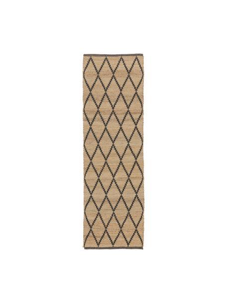 Alfombra artesanal de yute Atta, 100%yute, Beige, An 80 x L 250 cm
