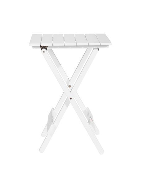 Mesa plegable pequeña de madera logia, Madera de acacia, pintada, Blanco, An 38 x Al 51 cm