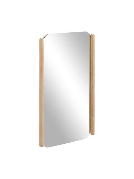 Eckiger Wandspiegel Natane mit beigem Holzrahmen, Rahmen: Mitteldichte Holzfaserpla, Spiegelfläche: Spiegelglas, Beige, 34 x 54 cm