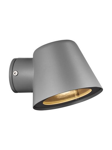 Außenwandleuchte Aleria in Grau, Lampenschirm: Metall, beschichtet, Grau, 12 x 11 cm
