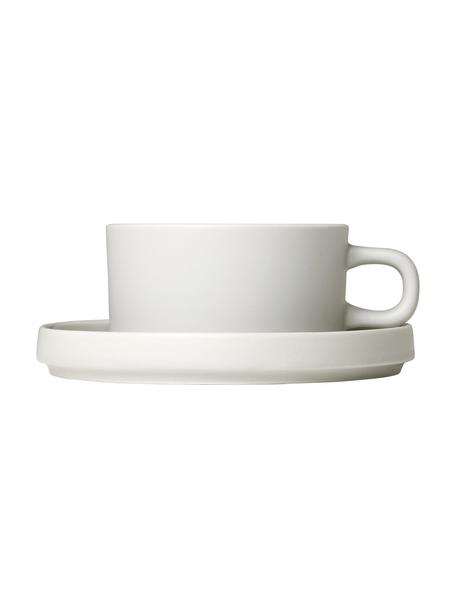 Tasse Pilar in Beige matt/glänzend, 2 Stück, Keramik, Beige, Ø 9 x H 5 cm