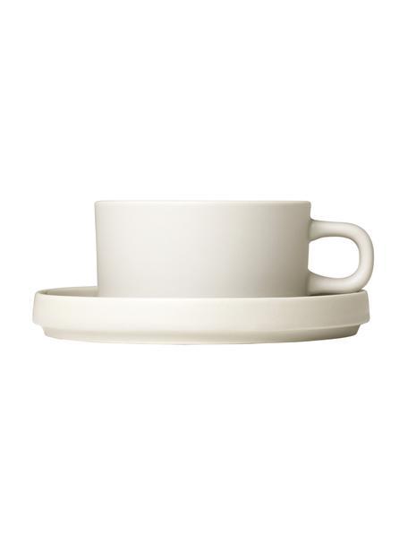 Tazza beige opaca/lucida Pilar 2 pz, Ceramica, Beige, Ø 9 x Alt. 5 cm