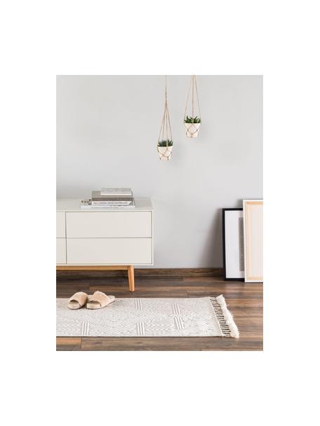 Läufer Laila Tang mit Hoch-Tief-Effekt in Beige/Creme, Flor: 100% Polyester, Cremefarben, 80 x 240 cm