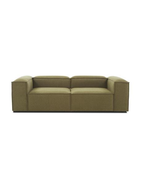Modulares Sofa Lennon (3-Sitzer) in Grün, Bezug: Polyester Der hochwertige, Gestell: Massives Kiefernholz, Spe, Webstoff Grün, B 238 x T 119 cm