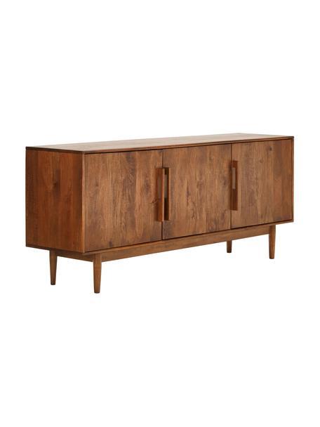 Aparador de madera maciza Paul, estilo retro, Parte trasera: tablero de fibras de dens, Marrón, An 180 x Al 75 cm