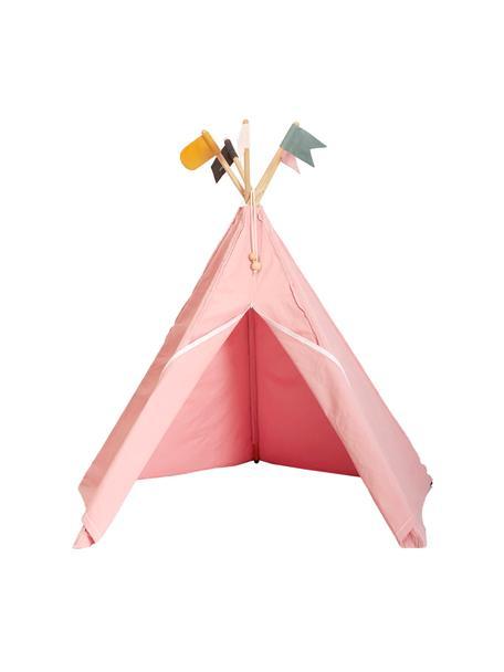 Tenda indiana in cotone organico Hippie, 100% cotone organico, Rosa, Larg. 135 x Alt. 135 cm