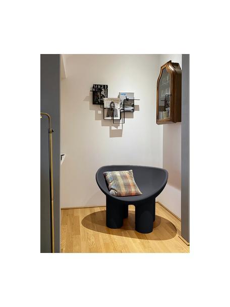 Design fauteuil Roly Poly in antraciet, Polyethyleen, vervaardigd volgens het rotatiegietprocédé, Antraciet, 84 x 57 cm