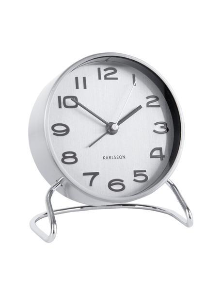 Wekker Classical, Gecoat metaal, Chroomkleurig, wit,zwart, Ø 10 cm
