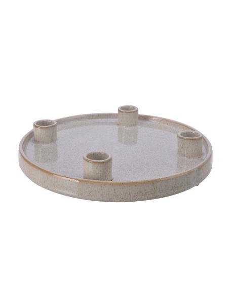 Kerzenhalter Glody aus Steingut, Steingut, Grau, Ø 25 x H 4 cm